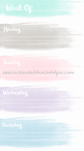 Adorned-Handmade---Personal-Watercolor-Weekly-Printable---Mon-Thur-2 blog