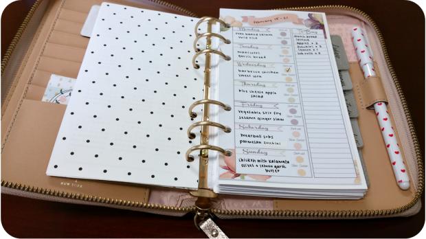 Kate Spade Menu Planning