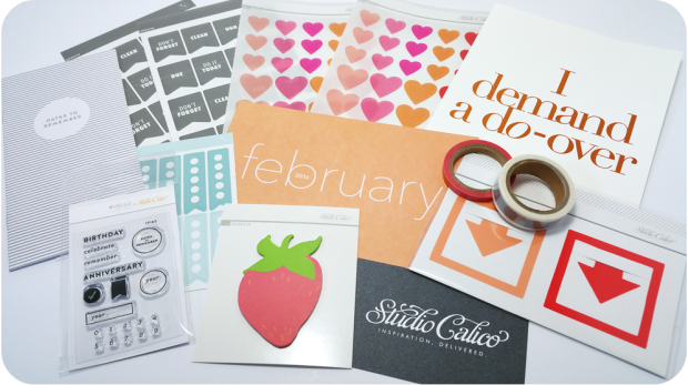Studio Calico Planner Kit February 2016