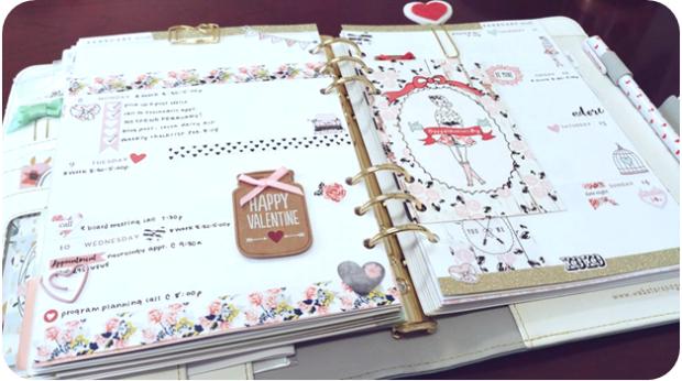 Valentine's Planner Layout